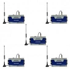RTU5025 GSM/GPRS(WEB) Контроллер (реле) + сигн-ия. Выносная антенна. 5шт.