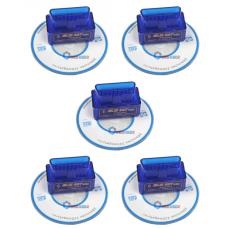ELM327 V2.1 OBD2 Bluetooth Сканер ошибок, текущих параметров автомобиля (автосканер) 5шт.