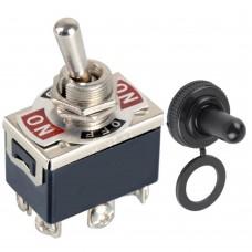 Тумблер переключатель E-TEN 1322 ON-OFF-ON 15A 250V AC с герметичным колпачком