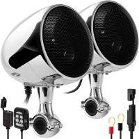 Аудиосистема для мотоцикла GoHawk AN4 v2021 (SPK350-U)  D-class/USB(MP3)/Bluetooth/AUX