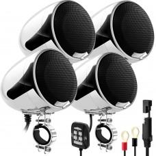 Аудиосистема для мотоцикла GoHawk AN4-QX v2021 (SPK400Q-U) D-class/USB(MP3)/Bluetooth/AUX