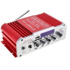 HY803 Hi-Fi Стерео усилитель с Караоке, Bluetooth, USB, SD, FM, пульт ДУ
