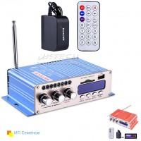 HY502S  Усилитель Hi-Fi с Bluetooth, MP3, SD, USB, FM, пульт ДУ + блок питания
