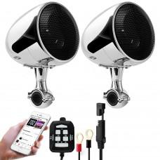 Аудиосистема для мотоцикла GoHawk AN4 (SPK350)  D-class/Bluetooth/AUX