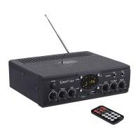 Kinter-018-B  Усилитель Hi-Fi с Bluetooth, MP3, FLAC, SD, USB, FM, MIC, AUX пульт ДУ