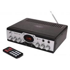 Kinter-018  Усилитель Hi-Fi с Bluetooth, MP3, FLAC, SD, USB, FM, MIC, AUX пульт ДУ